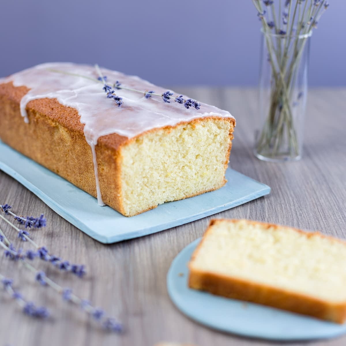 Lemon and Lavender Cake Loaf. An easy recipe for a loaf cake that tastes like summer.