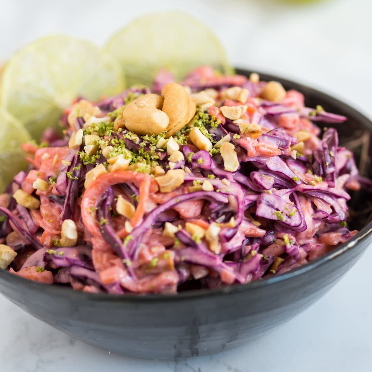Thai red cabbage slaw