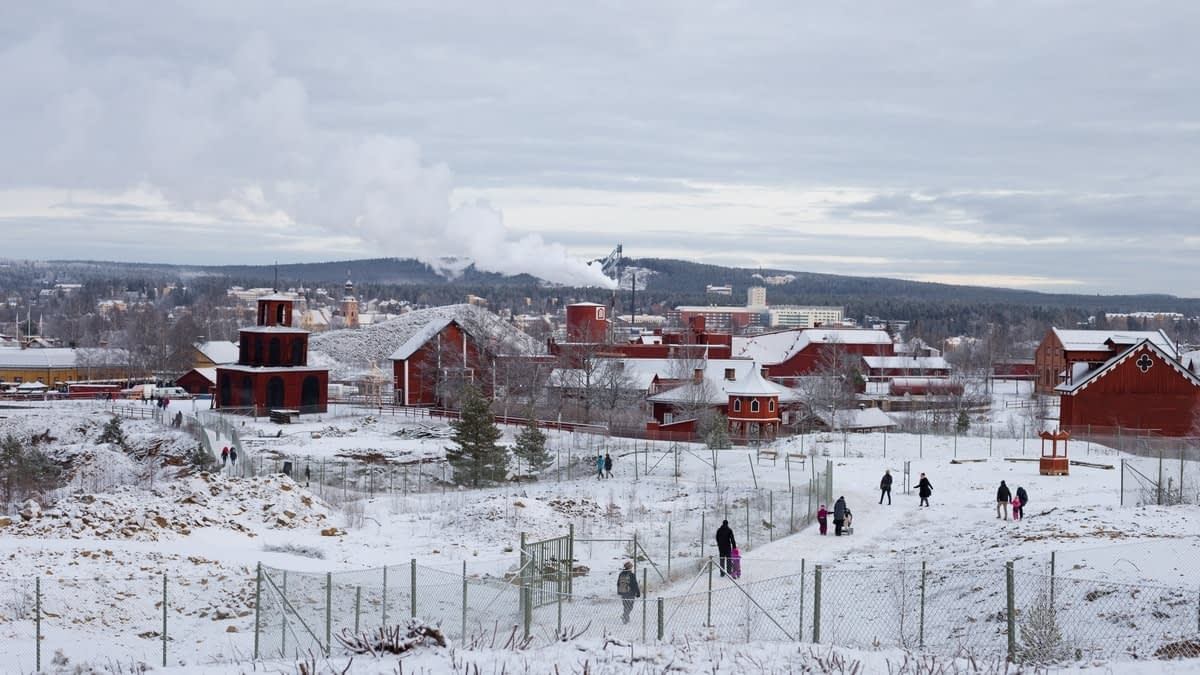 Swedish Christmas Market at the Falun Copper Mine, a World Heritage Site.