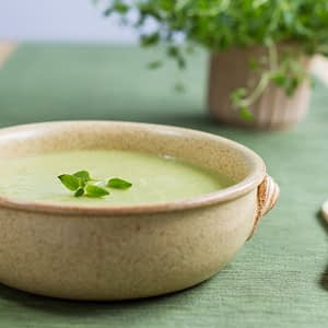 Green pea and ricotta soup recipe